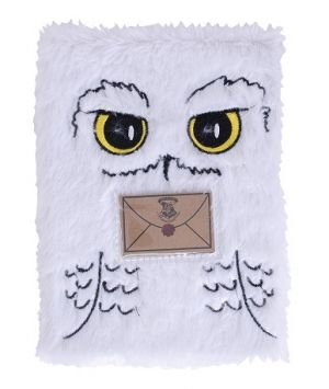 Harry Potter: Owl On The Road Hedwig A5 Plush Notebook