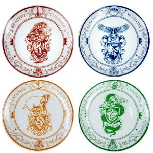 "Harry Potter: ""Accio Meal Time"" Hogwarts House Plate Set Preorder"