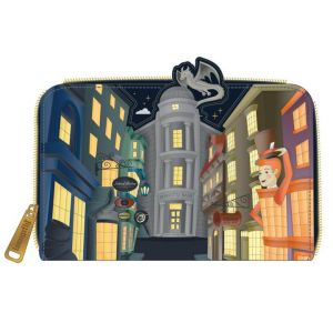 Harry Potter: Diagon Alley Loungefly Zip Around Purse Preorder