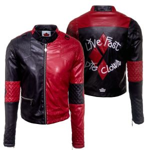 Harley Quinn: Live Fast, Die Clown The Suicide Squad Replica Jacket
