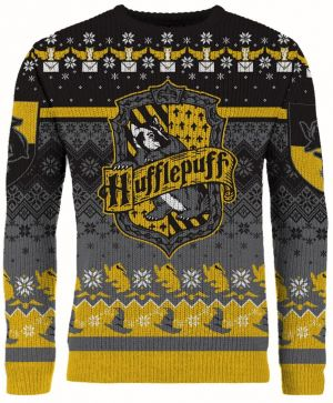 Harry Potter: 'Happy Huffle-days!' Hufflepuff Christmas Jumper