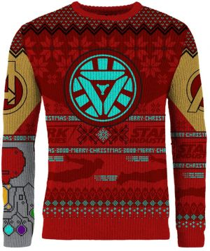 Avengers: Iron Man Power Gauntlet Knitted Christmas Jumper