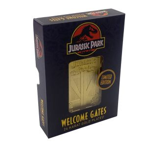 Jurassic Park: Entrance Gates Limited Edition 24k Gold Plated Metal Card
