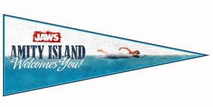 Jaws: Amity Island Welcomes You Pennant Flag