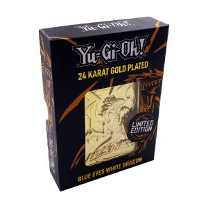 Yu-Gi-Oh!: Blue Eyes White Dragon Limited Edition 24k Gold Plated Metal Card