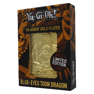 Yu-Gi-Oh!: Blue Eyes Toon Dragon Limited Edition 24K Gold Plated Metal Card Preorder