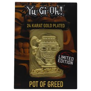 Yu-Gi-Oh!: Pot Of Greed Limited Edition 24K Gold Plated Metal Card Preorder