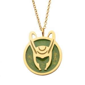 Marvel: Loki Enamel Helmet Necklace Preorder