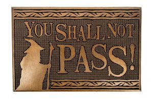 Lord Of The Rings: You Shall Not Pass Rubber Doormat