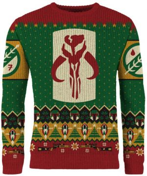 Star Wars: Merry Mandalorian Knitted Christmas Jumper