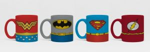 Justice League: Uniforms Espresso Mug Set