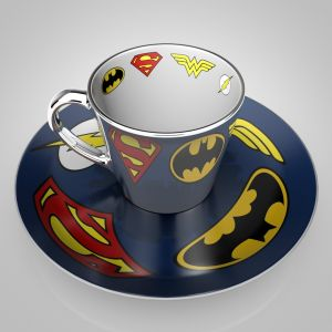 Justice League: Logos Mirror Mug & Plate Set Preorder