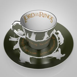 Lord Of The Rings: Mirror Mug & Plate Set Preorder