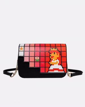 Super Mario: Pixellated Princess Peach Danielle Nicole Crossbody Bag