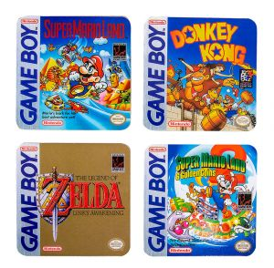 Nintendo: Slide Into Action Game Boy Box Art Coasters
