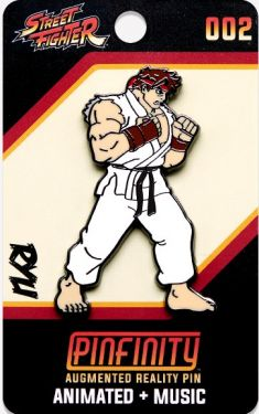 Street Fighter: Ryu Pinfinity AR Pin Badge