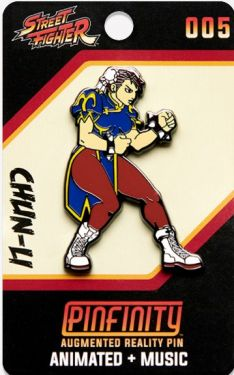 Street Fighter: Chun Li Pinfinity AR Pin Badge Preorder