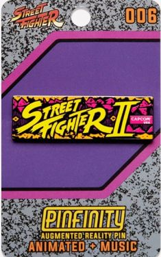 Street Fighter: SFII Logo Pinfinity AR Pin Badge Preorder