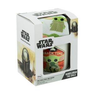 Star Wars: The Mandalorian The Child/Baby Yoda Mug & Sock Gift Set