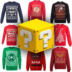 Merchoid Mystery Printed Christmas Sweater