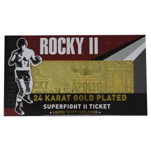 Rocky II: Apollo Creed 24K Gold Plated Limited Edition Fight Ticket Preorder