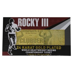 Rocky III: Clubber Lang 24K Gold Plated Limited Edition Fight Ticket Preorder
