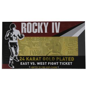 Rocky IV: Ivan Drago 24K Gold Plated Limited Edition Fight Ticket Preorder