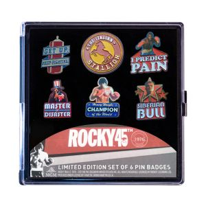 Rocky: Limited Edition Pin Badge 6 Pack Preorder