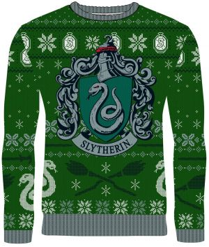 Harry Potter: Slytherin Sleigh Bells Knitted Christmas Sweater