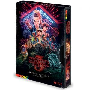 Stranger Things: Season 3 VHS Premium A5 Notebook