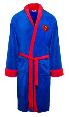 Superman: Man Of Fleece Bathrobe