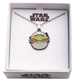 Star Wars: The Mandalorian The Child/Baby Yoda Sleeping Silver-Plated Pendant