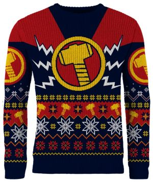 Thor: Merry Mjölnir Knitted Christmas Jumper