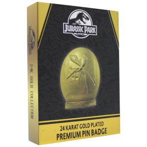Jurassic Park: 24K Gold Plated XL Premium Pin Badge Preorder
