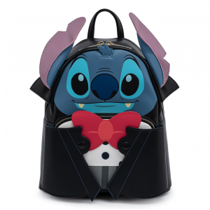 Lilo and Stitch: Vampire Stitch Bow Tie Loungefly Mini Backpack