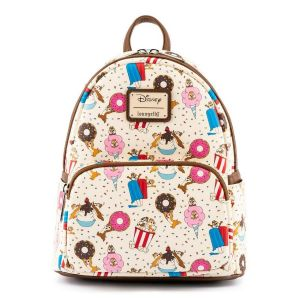 Chip and Dale: Snackies Print Loungefly Mini Backpack Preorder