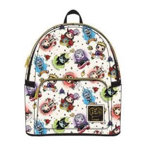 Disney: Villains Tattoo Print Pop By Loungefly Mini Backpack Preorder