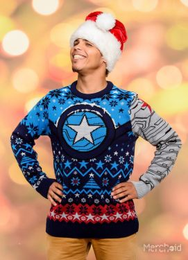 The Winter Soldier: Star Of Bucky Ugly Christmas Sweater/Jumper