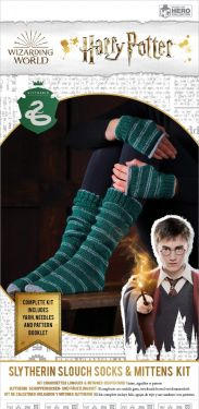 Harry Potter: Slytherin Hogwarts House Mittens and Slouch Socks Knitting Kit
