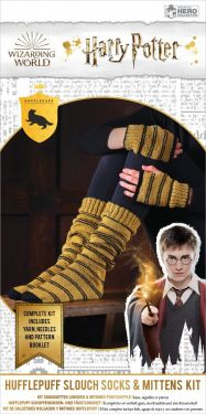 Harry Potter: Hufflepuff Hogwarts House Mittens and Slouch Socks Knitting Kit