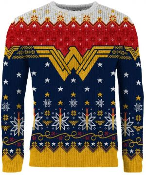 Wonder Woman: A Wonder-ful Christmas Time Christmas Sweater