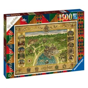 Harry Potter: Hogwarts Map 1500pc Jigsaw Puzzle Preorder