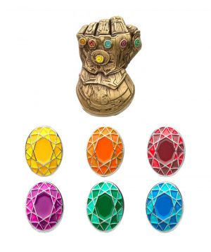 Avengers: Cosmic Collector Infinity Gauntlet Pin Set Preorder
