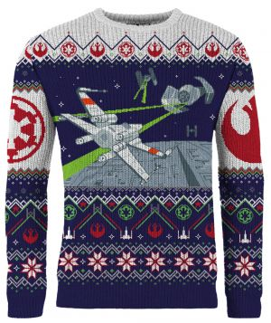 Star Wars: X-Wing v TIE Fighter Knitted Christmas Jumper