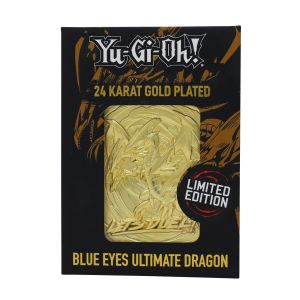 Yu-Gi-Oh!: Blue Eyes Ultimate Dragon Limited Edition 24K Gold Plated Metal Card Preorder