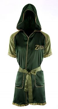 Zelda: Green Goddess Satin Robe Night Dress