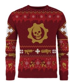Gears Of War: Gear-ing Up For Gifts Christmas Sweater (Includes Fruitcake Weapon Set DLC) - Merchoid